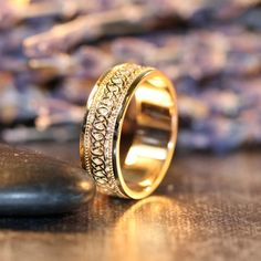 Celtic Knot Wedding Band in 14k Rose Gold 6mm Unique Infinity Eternity Wedding Band for Men or Women (Other Metals and Engraving Available)