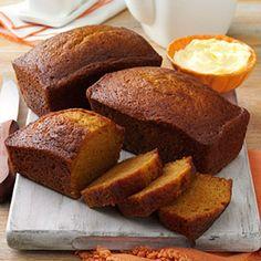 Delicious Pumpkin Bread Recipe from Taste of Home -- shared by Linda Burnett of Prescott, Arizona