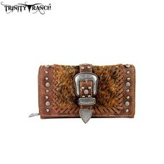 Trinity Ranch Hair-on Buckle Collection Secretary Style Wallet