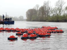 7 April 2014 250 model lifeboats take to the River Thames in the RNLI's Alternative Boat Race to raise awareness and funds for the Royal Nat...