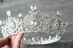 Edwardian Full Bridal Crown Swarovski Crystal by EdenLuxeBridal