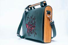 923620eff0a Wood bag wood leather bag Woman wood bag