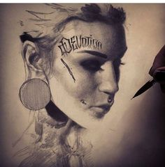 Punk girl love it ✌️ Beautiful Drawings, Cool Drawings, Monami Frost, Portrait, Illustration, Instagram Posts, Movie Posters, Collection, Art