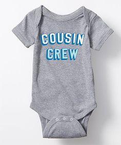 Athletic Heather 'Cousin Crew' Bodysuit - Infant