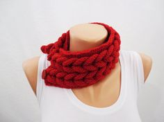 Hey, I found this really awesome Etsy listing at https://www.etsy.com/listing/125181710/red-neckwarmer-wool-hand-knitting