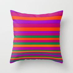 Stripe2 Throw Pillow by Aimee St Hill