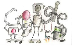 """The Robotic Future"" by 9th grader, Olivia L.  Vote for your favorite Google Doodle!"