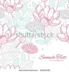Floral Red Ilustrações e desenhos Stock | Shutterstock