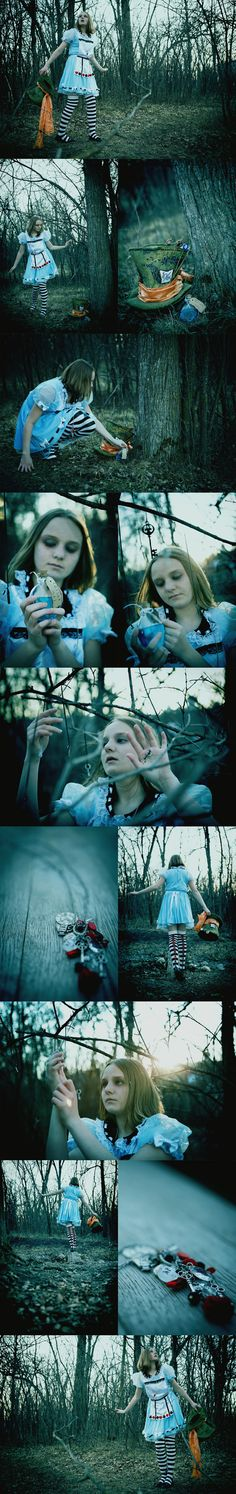 Tim Burtons Alice in Wonderland inspired shoot.