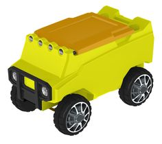 Remote Control ATV Cooler w/ Bluetooth in Neon Yellow Body & Yellow Top