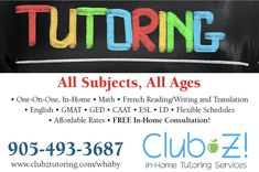 In Home Tutoring & Online Tutoring - Club Z! Tutoring of Whitby, ON Study Skills, Reading Skills, Writing Skills, Science Tutor, Math Tutor, Reading Tutoring, Reading Fluency, College Math, Maths Exam
