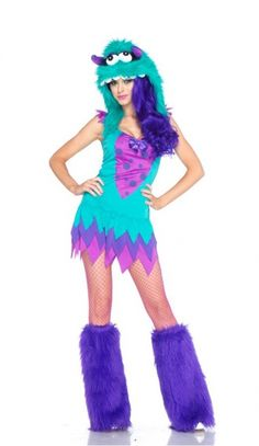 @Michelle P. Blue Fuzzy Monster Costume this is wat i wuz hoping 2 b u can get it at value village