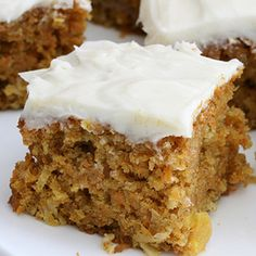 Carrot Cake with Cream Cheese Icing Recipe from Grandmother's Kitchen
