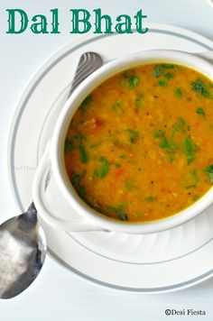 Dal Bhat ( Lentils and rice) Indian Food Recipes, Gourmet Recipes, Vegetarian Recipes, Cooking Recipes, Healthy Recipes, Ethnic Recipes, Gujarati Recipes, Nepalese Recipes, Indian Foods