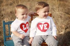 Valentine's Day LOVE Toddler size Twin or SIBLING door twinzzshop, $48.00