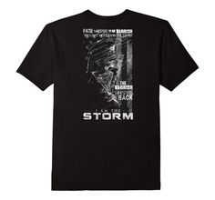 Men's Fate Warrior I'm The Storm T-shirt For Men Women 2XL Black