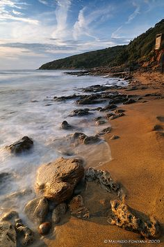 The Gulf of Baratti (Italy) at Sunset