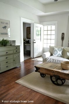 Classic Gray benjamin Moore- Color Matched at LOWES our vintage home love: DIY Vintage Equestrian Feed Sack