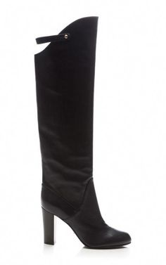 1a718b45f69f Plonge Leather Knee Boot by Sergio Rossi Now Available on Moda Operandi  High Heel Boots