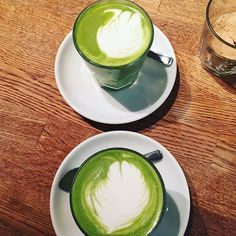 Matcha latte time  we have a post in our website recipes on how to make the perfect matcha latte www.zengreentea.com.au xx #matcha #superfood
