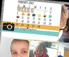 Calendar title card idea. #digitalprojectlife #projectlife