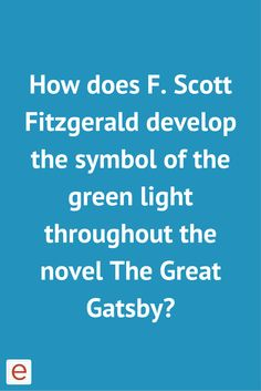 Color Symbolism in F. Scott Fitzgerald's