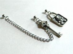 Pirate Lock and Key Cartilage Chain. I love this store. They do custom jobs and the chains often come with an earring for the other ear to compliment it.