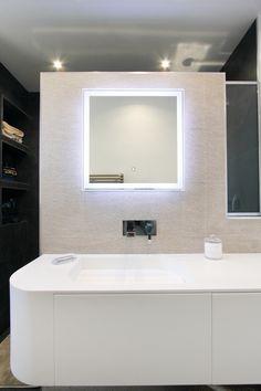 Carrelage porcelanosa meuble vasque krion meuble sur mesure miroir r tr - Meuble de salle de bain porcelanosa ...