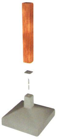 Na ligação entre os pilares e a fundação de concreto, utilizam-se placas de neoprene, que isolam a madeira da umidade e do cimento.