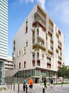 composed of social housing, residences, a ground level religious center, and retail frontage -- the project(s) seamlessly combine with the earlier ehpad senior housing by atelier du pont.