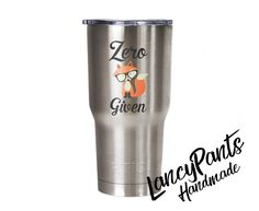 Zero Fox Given Insulated Tumbler - coffee tumbler - drink tumbler - hot and cold beverages