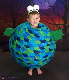 Be the most ferocious and funniest shark in the sea when for Puffer fish costume