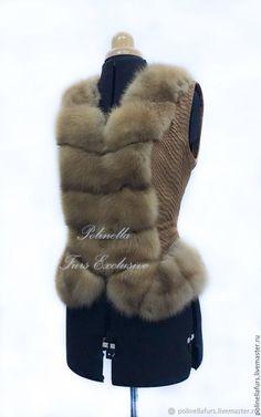 Жилеты ручной работы. Заказать Жилет из куницы и питона. Polinella Furs Exclusive. Ярмарка Мастеров. Шуба, пошив, пошив шуб