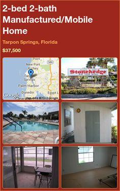 2-bed 2-bath Manufactured/Mobile Home in Tarpon Springs, Florida ►$37,500 #PropertyForSale #RealEstate #Florida http://florida-magic.com/properties/4412-manufactured-mobile-home-for-sale-in-tarpon-springs-florida-with-2-bedroom-2-bathroom