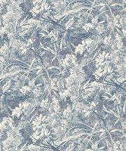 Indigo Royal Daisy Wallpaper
