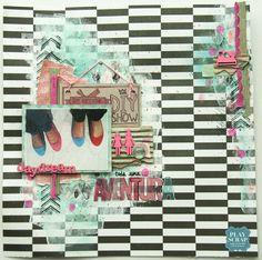 Reto414-Lorena-Playscrap-Explosión de color Diy Shows, Daydream, Layouts, Scrap, Colors, Tat