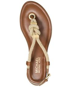 d12b081a59 Michael Kors Holly Flat Thong Sandals Shoes - Sandals & Flip Flops -  Macy's. Vietnámi PapucsStitch ...
