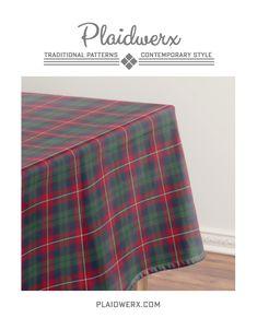 Clan Robertson Tartan Tablecloth - 100% cotton, machine washable. Available in three sizes. #robertson #tartan #plaid #scottish #tablecloth #homedecor #weddingreceptiondecor #plaidwerx