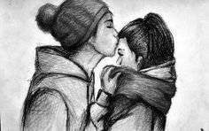I love forehead kisses Couple Sketch, Cute Couple Drawings, Love Drawings, Couple Art, Drawing Sketches, Art Drawings, Drawing Ideas, Sketching, Drawings Of Couples