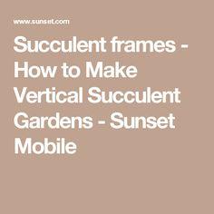 how to make a vertical garden frame