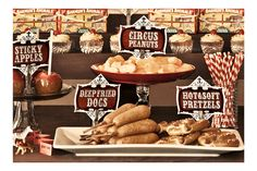 Food table Idea for 2014 Carnival themed Zombiefest