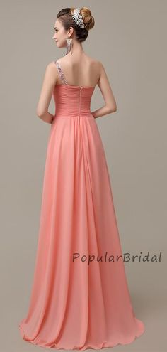 Beautiful A-line One-Shoulder With Beading Long Bridesmaid Dresses, PB005#bridesmaids #bridesmaiddress #bridesmaiddresses #dressesformaidofhonor #weddingparty #2020bridesmaiddresses Affordable Bridesmaid Dresses, Long Bridesmaid Dresses, Bridesmaids, Formal Dresses, Wedding Dresses, Beaded Chiffon, Custom Made, Beading, One Shoulder