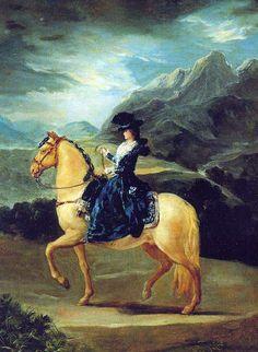 Equestrian Portrait of Maria Teresa de Vallabriga, 1783  Reinette: Francisco de Goya y Lucientes