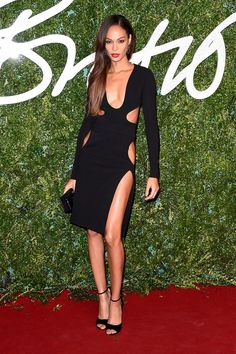 Joan Smalls in Tom Ford at British Fashion Awards 2014 |