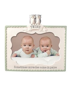 'Twins Miracles Come In Pairs' Frame #zulily #zulilyfinds