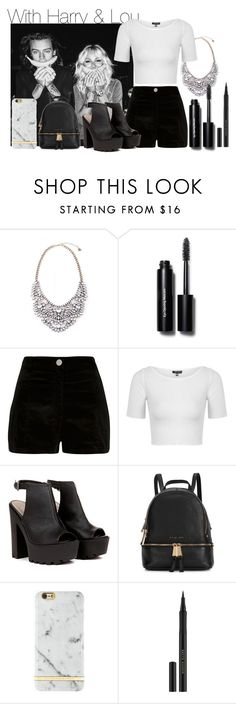 """With Harry & Lou. 2"" by my-dreams29 ❤ liked on Polyvore featuring Bobbi Brown Cosmetics, River Island, Topshop, Michael Kors, Richmond & Finch and Kevyn Aucoin"