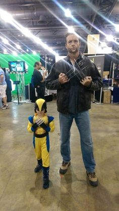Very cute! Father and Son Cosplay