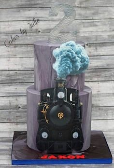 Steam engine for Jaxon's Train themed birthday party. I did matching Oreos and train ticket Cake Pops as well. Trains Birthday Party, Train Party, Train Cupcakes, Cupcake Cakes, Just Cakes, Cakes For Boys, Adult Birthday Cakes, Novelty Cakes, Cake Creations