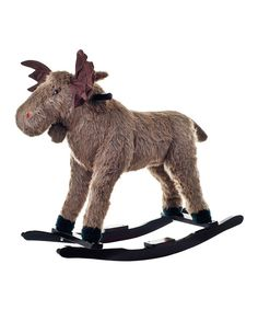Take a look at this Max Moose Plush Rocker on zulily today! This is amazing...they have to cutest rockers! Who needs a horse when you can get a moose or a giraffe!!!