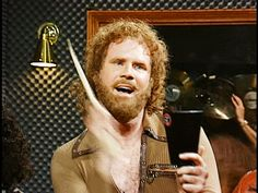 "Will Ferrell adds a little more cowbell in this Saturday Night Live skit. (click on image twice to view original animated gif) ""Guess what?! I gotta fever and the only prescription is MORE COWBELL!"" *LOL Original Saturday Night Live Skit Video Here: http://vimeo.com/64949665 Also here: http://screen.yahoo.com/snl-iconic-skits/more-cowbell-174128899.html"